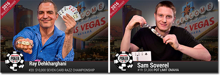 World Series of Poker 2016 Day 15 Winners