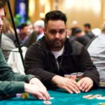 Sean Munjal focused playing poker